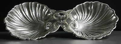Vintage Sterling Silver Clamshell Serving Tray • CAD $622.88