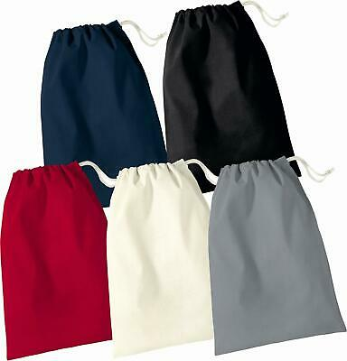 Cotton gift/party/laundry bags with draw string asst'd sizes-Natural & Black.