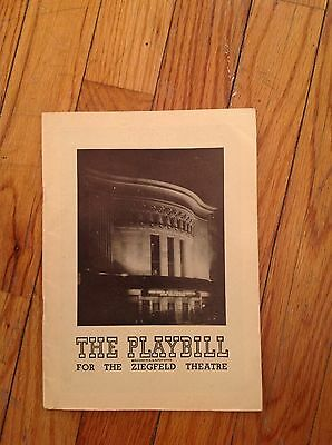 Antique Playbill from 1948 Production of Magdalena at The Ziegfeld Theatre