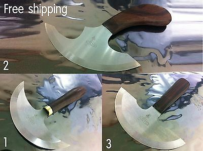 3 type ongage head knife leather cutting knife half round  from Japan material