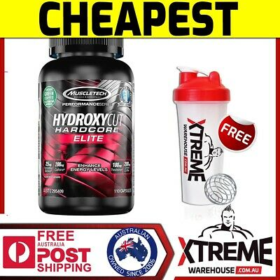 Muscletech Hydroxycut Hardcore Elite 110 Caps Weigh Loss Energy Fat Burner Rip