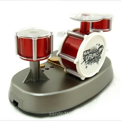 Mini Finger Touch Jazz Drum Set Music Light Kids Toy Red