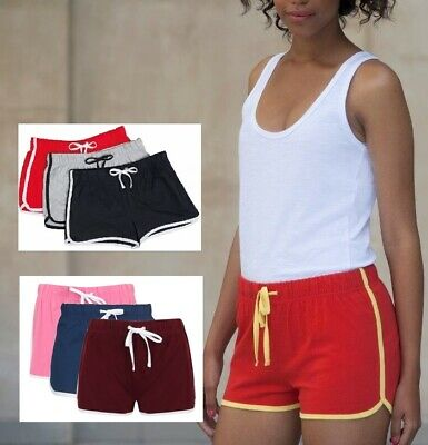 Womens Ladies Sizes 8-18 Girls 5-12 years Retro Training Fitness Sports Shorts