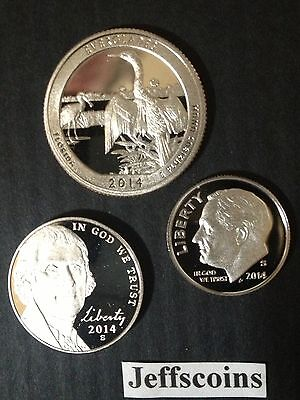 2014 S Dime Nickel & Silver Proof EVERGLADES National Park Quarter 5 10 25¢ 2015