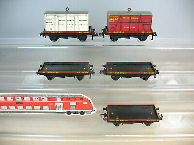 D950-1# 5 HORNBY/MECCANO H0 Güterwagen Insul-Meat, XP,Furniture British Railways