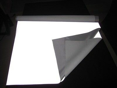 "SILVER REFLECTIVE FABRIC sew Silver Black on material 3'x39"" 1Mx1M CCC-3M-TU"
