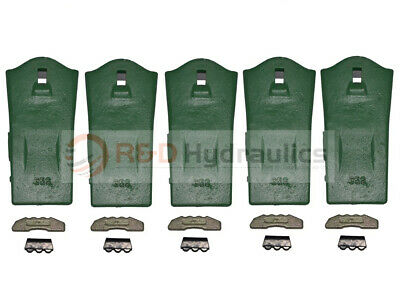5-Pack 35S ESCO Style Conical Digging Teeth w/Locks & Pins