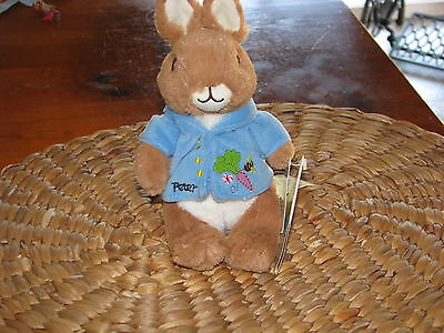 """PETER RABBIT BEAN BAG PLUSH, 20cm, GREAT FIRST EASTER GIFT, BNWT """"FREE POSTAGE"""""""