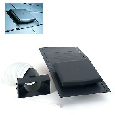 10K Slate Roof Vent Tile Ventilator & Adapter Kit for Soil Pipe ,Extractor fans