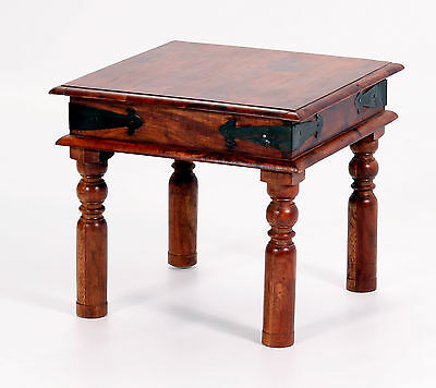 Lamp Table Side End Coffee Table Solid Acacia Rustic Antique Indian Furniture