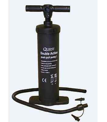 "Quest double action hand air pump 19"" 040000"