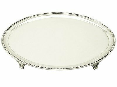 Sterling Silver Salver by John Crouch I & Thomas Hannam - Antique Georgian