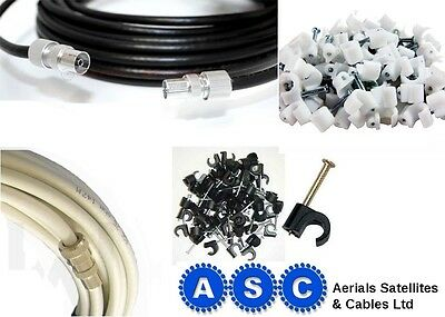 FREEVIEW TV AERIAL EXTENSION LEAD COAX CABLE WIRE 1m 2m 3m 4m 5m 10m 15m 20m