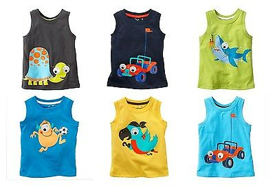 JUMPING BEANS Boy's Tee 12 18 24 months Cotton Tank Top U Pick Style New