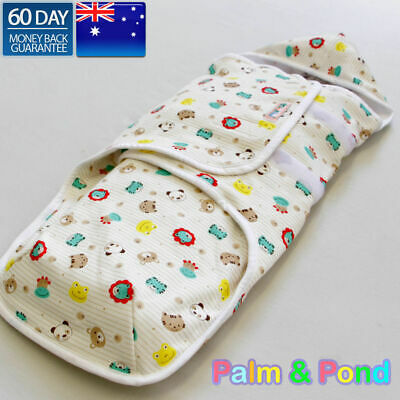 Palm&Pond Baby Swaddle Wrap *with Hood* Double Layers Cotton 0-3 months