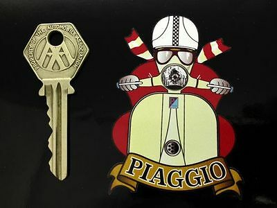PIAGGIO CAFE RACER Pudding Basin Helmet SCOOTER STICKER