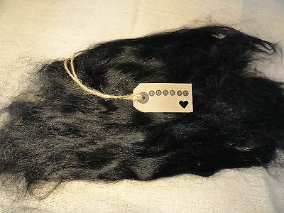 30g (approx 1oz)  MOHAIR. BLACK - Straight