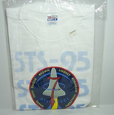 STS-95 Mission Discovery 1998 Space Transportation System T-Shirt Größe L Hanes