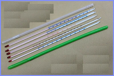 Glass thermometer -30~100 Celsius 6mm OD 300mm non-Hg Red Scale
