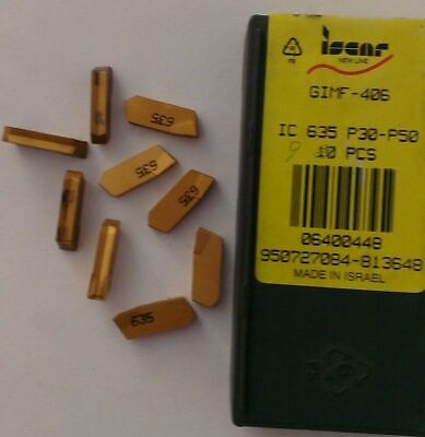 "6 Iscar 88A-09292-01 IC635 .150/"" Wide Carbide Cut Off Inserts"