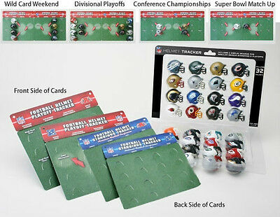 NFL Standings Tracker Set Of 32 Pocket Sized Helmets & Display Boards