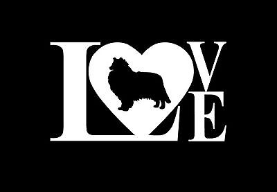 Collie Decal - LOVE