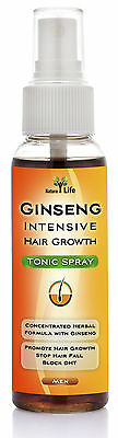 Ginseng Natural Hair Loss Treatment For Men Fast Growth Regrowth Block DHT 110ml