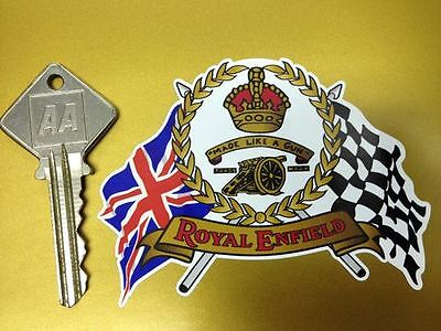 ROYAL ENFIELD Flags Scroll helmet or motorcycle sticker