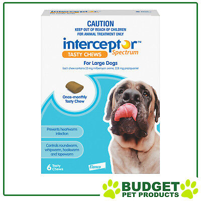 Interceptor Spectrum For Dogs 22-45kg Blue 6 chews