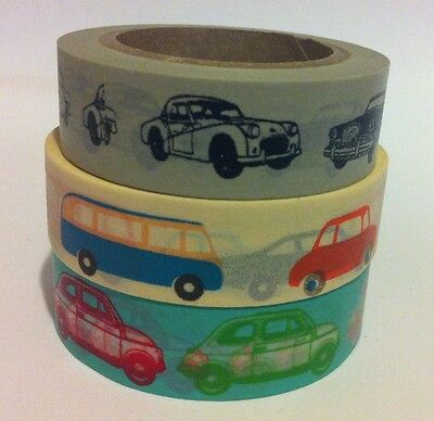Washi Tape Vehicular 15Mm X 10Mtr Scrap Planner Craft Wrap Mail Art