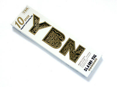 YABAN YBN SLA 101 Super Chain Ti-N Gold with Missing Link 10S 116L