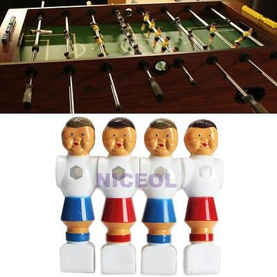 4Pcs Rod Foosball Soccer Table Football Men Player Figure Replacement Red & Blue