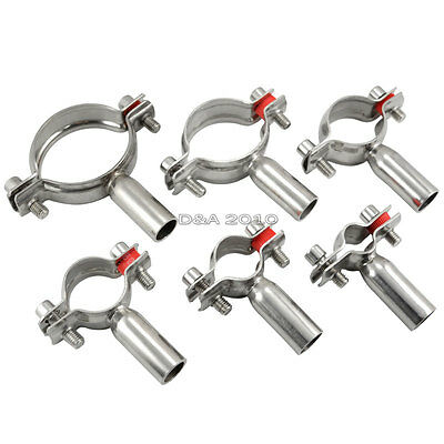 25MM 1''  Sanitary Bracket Pipe Fitting Ajustable Clamp SS316 Without Thread
