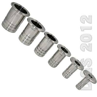 """25MM 1"""" Sanitary Hose Barb Pipe Fitting SS316 Tri Clamp Type 50.5MM Ferrule"""
