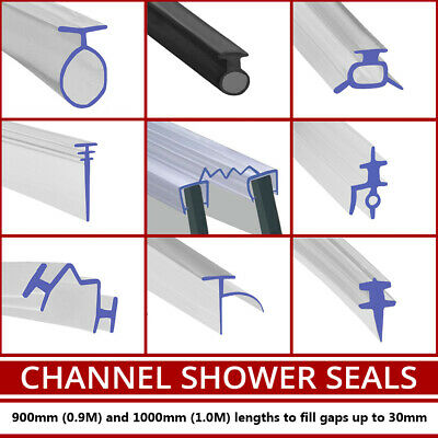 PVC Soft Rubber Shower Seal | Fits Track Channel or Bifold Folding | Glass Door