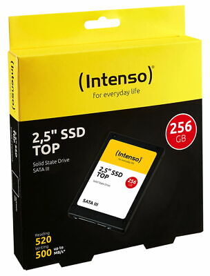 Intenso SSD interne Festplatte Top High-Speed MLC 2,5 Zoll 256GB SATA III