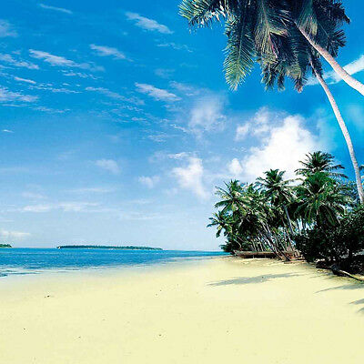 Tropical Beach 10'x10' CP Backdrop Computer printed Scenic Background ZJZ-643