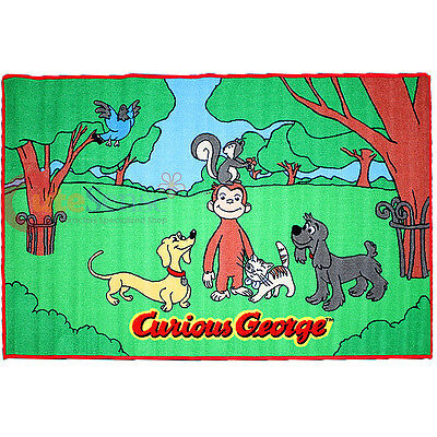 "Curious George Carpet Accent Mat Area Rug 39""x58"" - Friends in the Park"
