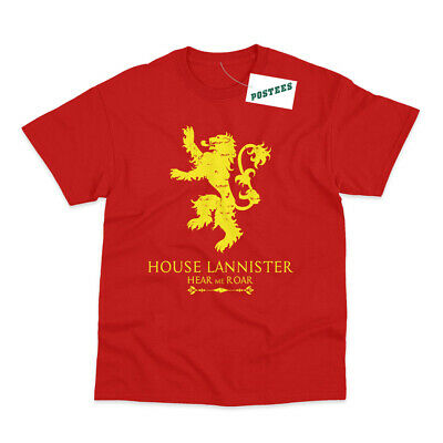 House Lannister Inspired by Game Of Thrones Printed T-Shirts