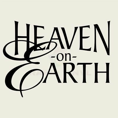 HEAVEN ON EARTH Wall Decal Wall Sticker Home and Living Wall Art Decal Quote