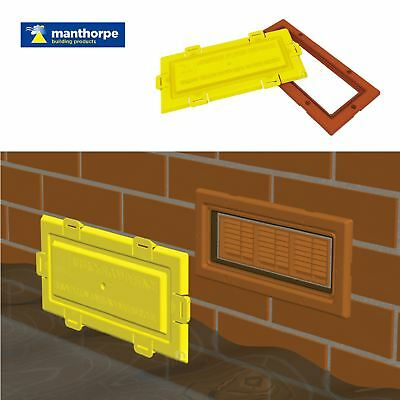 Airbrick Flood Water Defence Protection Cover with Terracotta Coloured Frame