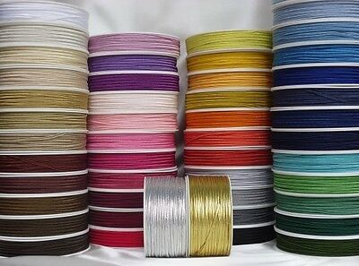 Soutache Braid Cord SET of 55 colours x 3 metres 100% viscose 3mm only £0.34p/m