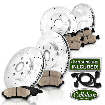 [FRONT + REAR] Drilled Slotted SPORT Brake Rotors Ceramic Pads 745 760 E65 E66