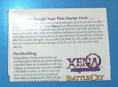 HERCULES TCG CCG Deck Game Cards INSTRUCTIONS RULES Pamplet