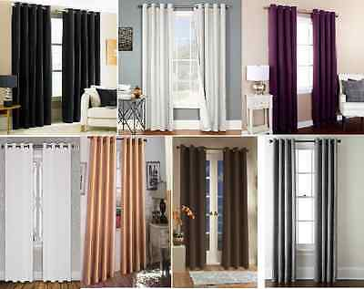 """2 Soft Touch Blackout  Window Curtain Grommet Panel Heavy Thick  Privacy K92 84"""""""