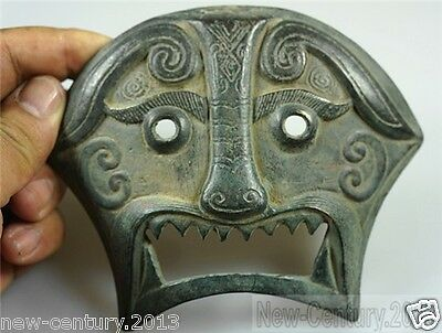 Chinese Antiques Old Bronze Amulets Masks Piece