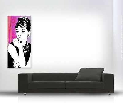 audrey hepburn pop art auf leinwand original canvas kunst new eur 129 00 picclick de. Black Bedroom Furniture Sets. Home Design Ideas