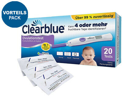 Clearblue Ovulationstest Digital 2.0 mit dualem Hormonindikator 20 Stk.