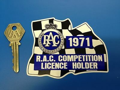 RAC RALLY Garland style Stickers on Chequered Flag RAC Rally 1960's 70's