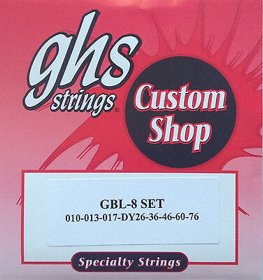 GHS Boomers Electric Guitar Strings GBL-8 8-string set 10-76